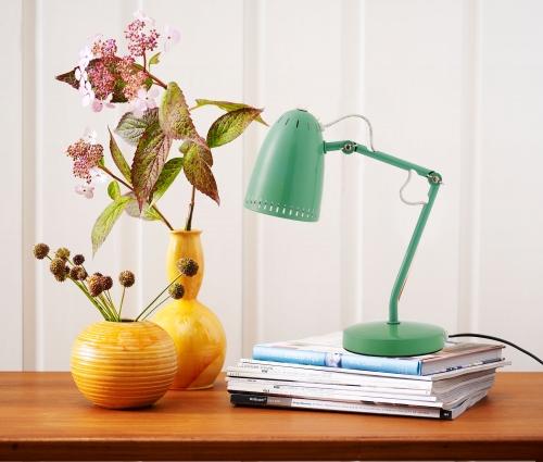d nisches design tischlampe dynamo aus metall mit lochmuster kramsen. Black Bedroom Furniture Sets. Home Design Ideas