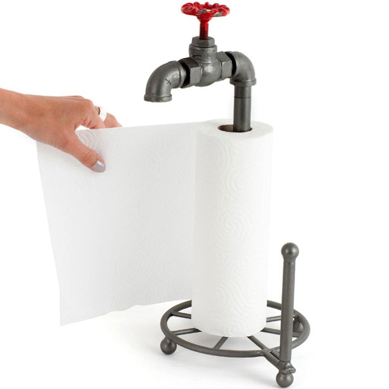 Wasserhahn Küche Ohne Druck: Küchenrollenhalter Pipeline Eisenrohr Wasserhahn- Kramsen