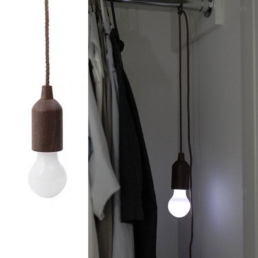 led lampe an schnur kabellose gl hbirne zugschalter kramsen. Black Bedroom Furniture Sets. Home Design Ideas