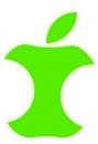 Aufkleber Apfel