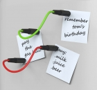 Magnet Set Mag-Notes - bunte Kabel mit Steckern als Magnet