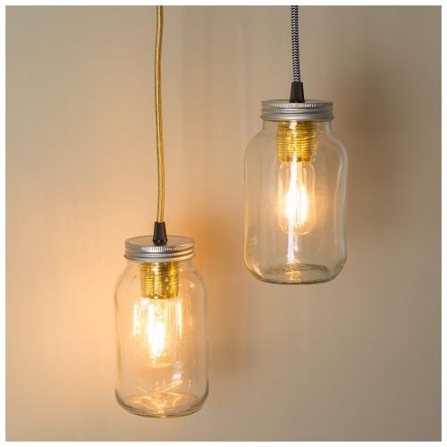 mason jar lampe einmachglas marmeladenglas edison. Black Bedroom Furniture Sets. Home Design Ideas