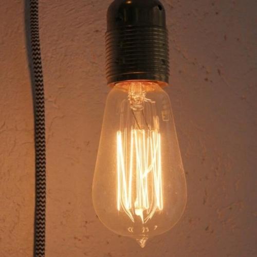 Pendelleuchte metall fassung mit textilkabel kaufen kramsen for Kugellampe decke