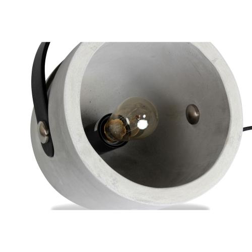 tischlampe cube beton edison gl hbirne textilkabel kramsen. Black Bedroom Furniture Sets. Home Design Ideas