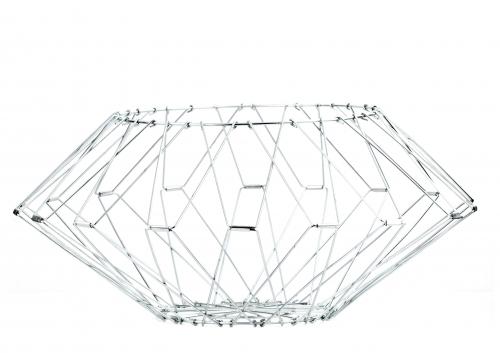 edelstahl drahtkorb faltbarer korb und aufbewahrung kramsen. Black Bedroom Furniture Sets. Home Design Ideas