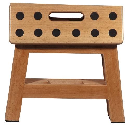 faltbarer tritt hocker james wood platzsparend aus holz. Black Bedroom Furniture Sets. Home Design Ideas