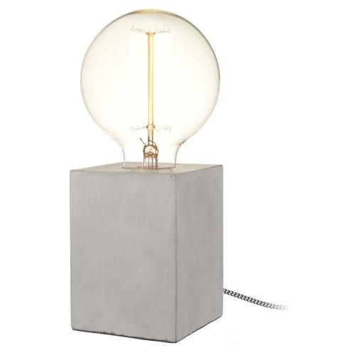 Tischleuchte Beton Cubus Lampe 13cm Mit Textilkabel Kramsen