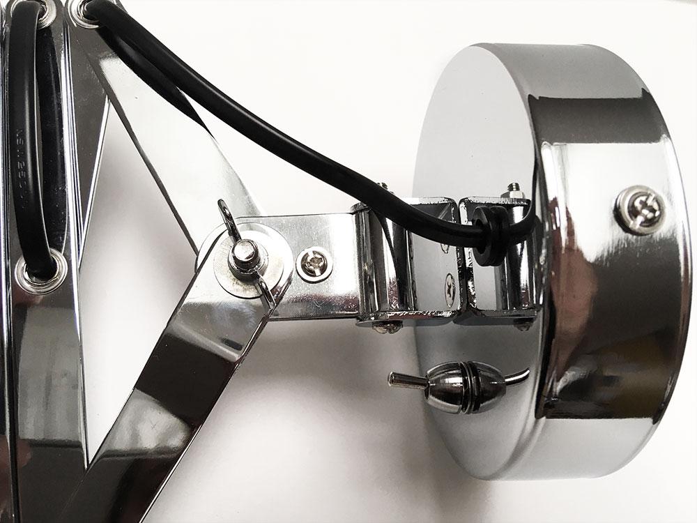 Design Wandlampe verstellbar Nickel//Grau Wandleuchte Retro Look Wohnzimmerlampe