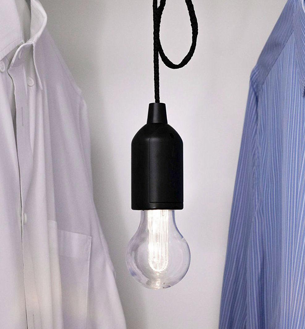 Kabellose Edison Led Lampe Mit Zugschalter An Schnur Kramsen