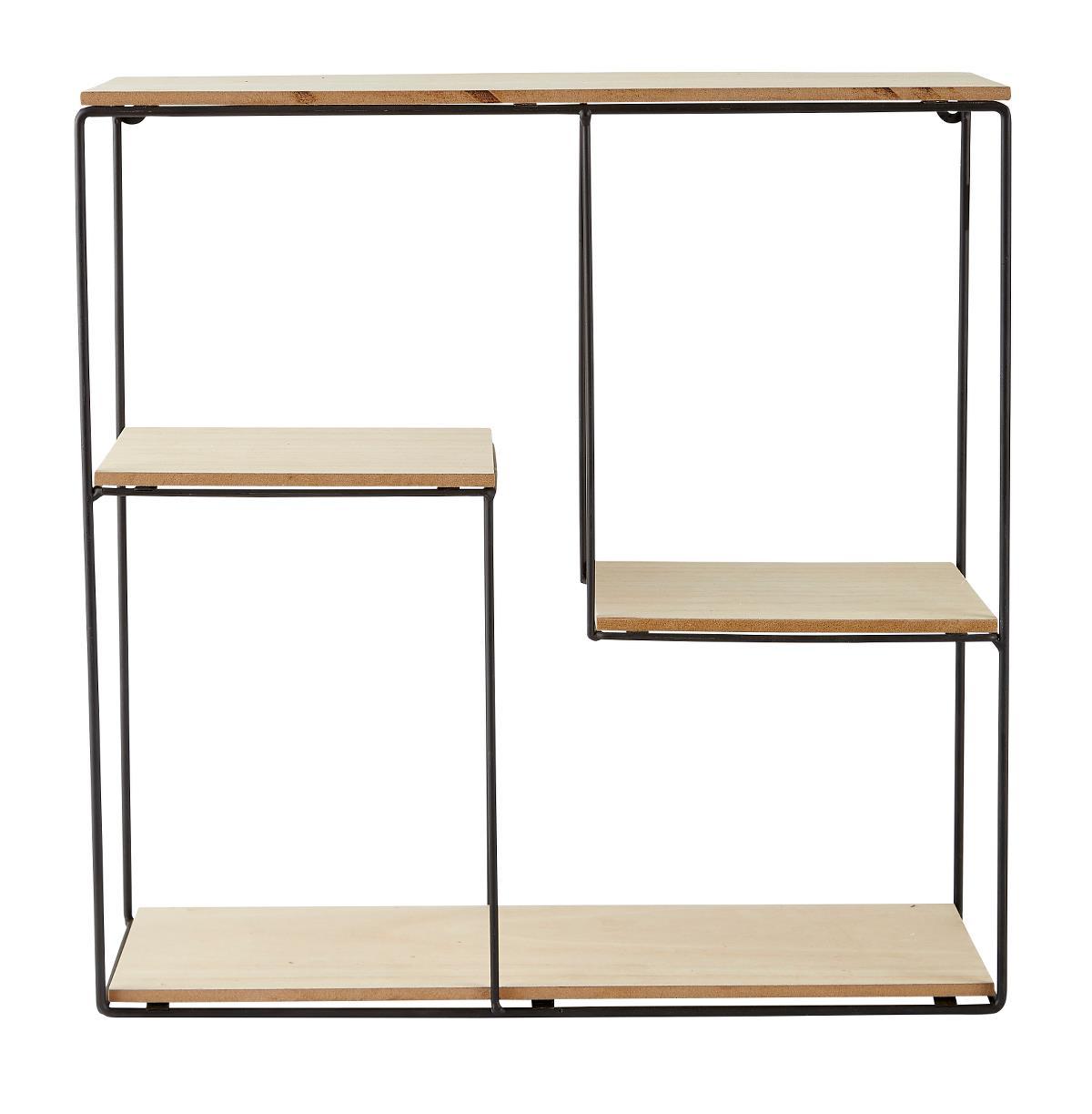 Danisches Design Wandregal Aus Mdf Holz Und Metall Quadratisch