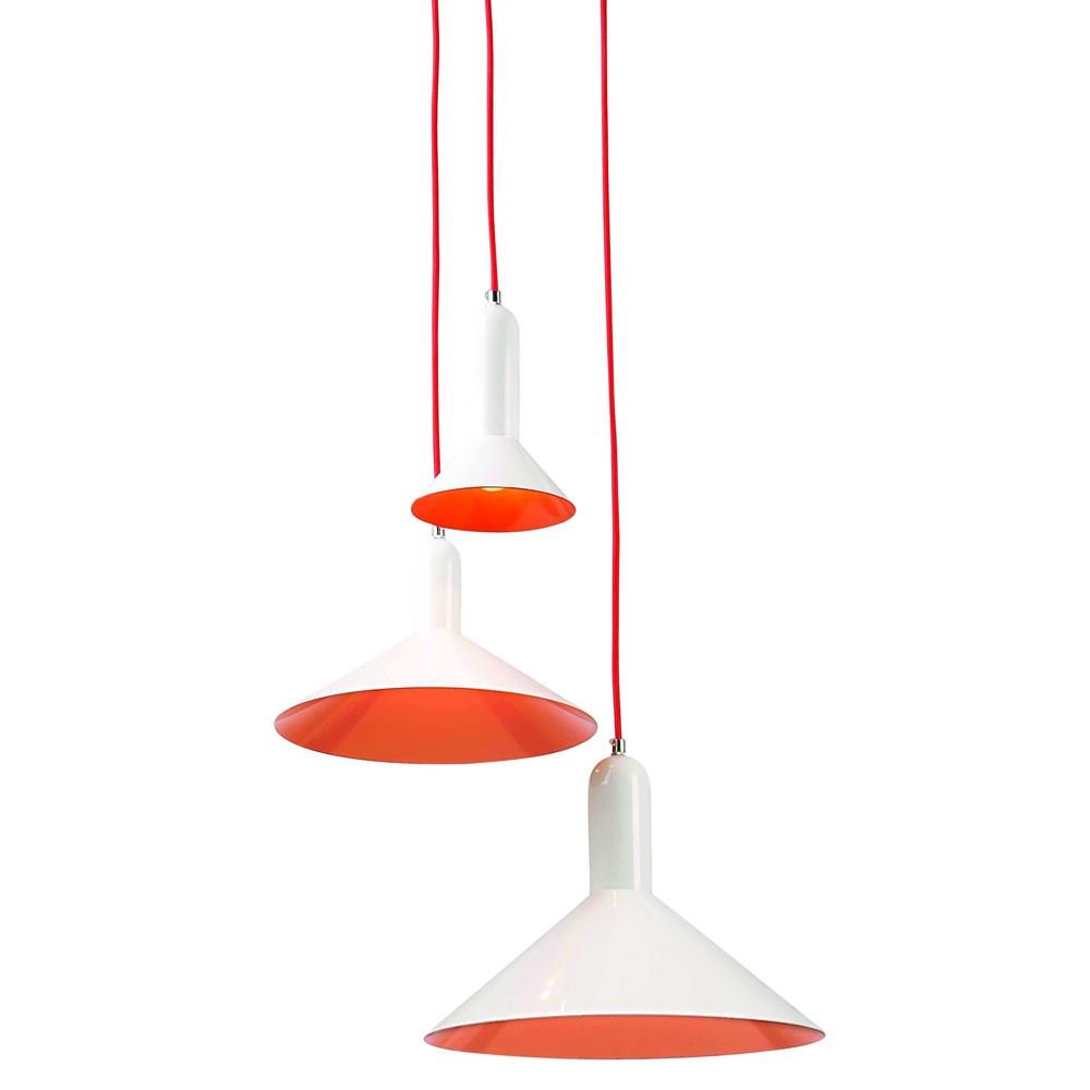 die retro-lounge-hängelampe mit 3 versetzten lampenschirmen- kramsen