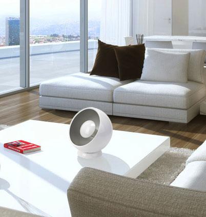 Tischlampe als kugel im futuristischen retro design kramsen for Tisch kugellampe design