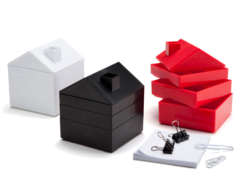 in house schreibtisch aufbewahrung mit klammern und. Black Bedroom Furniture Sets. Home Design Ideas