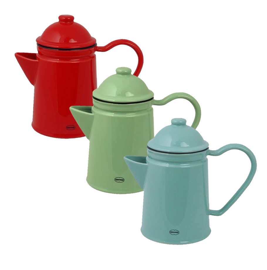 Küche Im Shabby Look teekanne und kaffeekanne vintage retro keramik 600ml kramsen