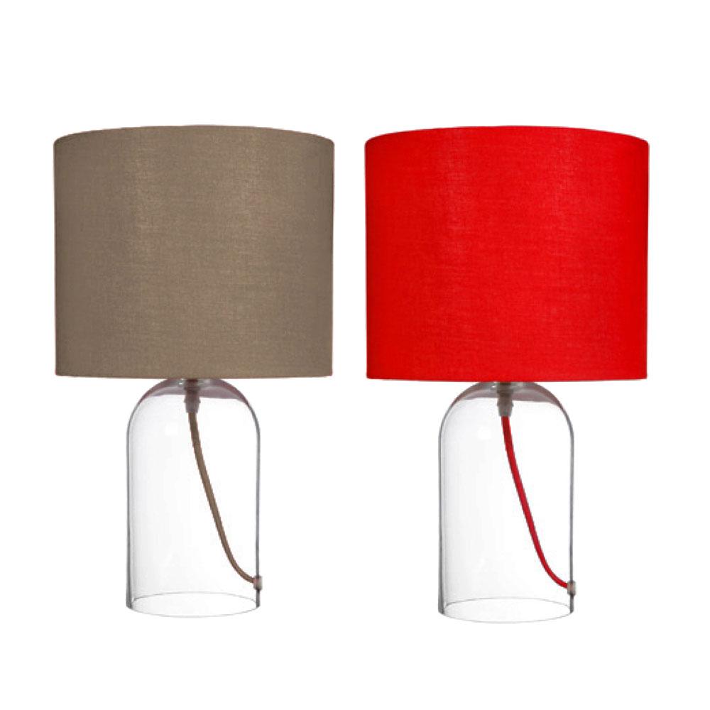 Tolle design tischlampe mit glasfu kramsen for Designer accessoires wohnen
