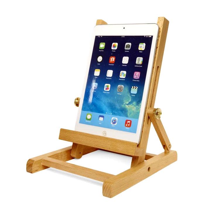 tablet st nder buch halter holz staffelei buche kramsen. Black Bedroom Furniture Sets. Home Design Ideas