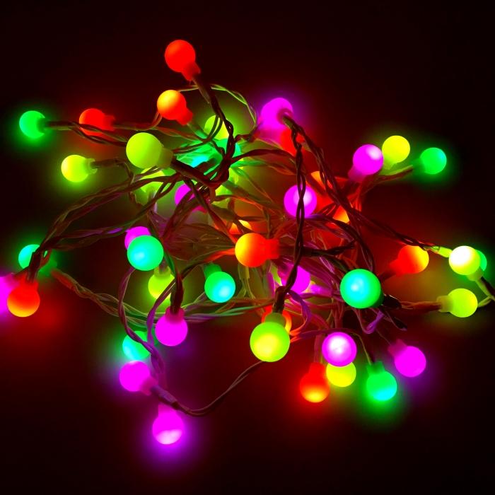 Led Lichterkette Draußen : lichterkette fluo f r drinnen und drau en 490cm 48 led lampen batterie kramsen ~ Orissabook.com Haus und Dekorationen