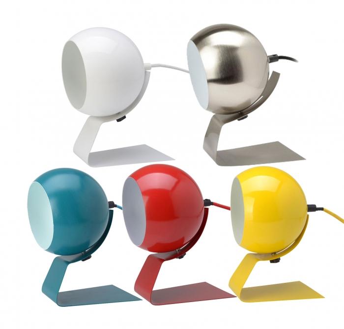 Design tischlampe olga metall kugellampe textilkabel kramsen for Tisch kugellampe design