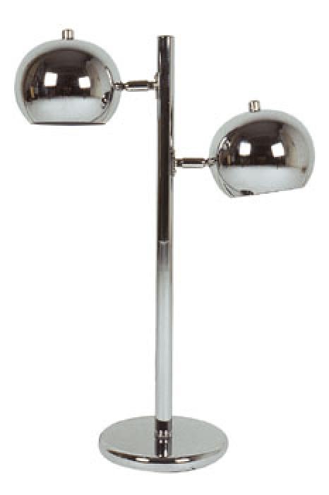 tischlampe retro design mit 2 chrom kugelleuchten kramsen. Black Bedroom Furniture Sets. Home Design Ideas