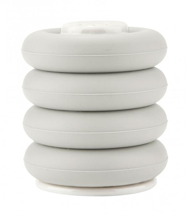 egg cup eierbecher aus silikon mit salzstreuer kramsen. Black Bedroom Furniture Sets. Home Design Ideas
